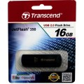 Transcend JetFlash 350 16GB, USB 2.0, Черный TS16GJF350