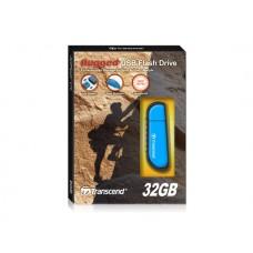 Transcend JetFlash V70, 32GB, USB 2.0, противоударный, Голубой TS32GJFV70